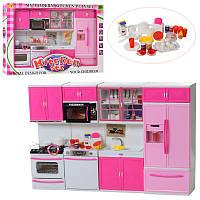 Мебель для куклы барби - БольшаяКухня, холодильник, мойка, плита, посуда, мебель для домика барби, 6612-27