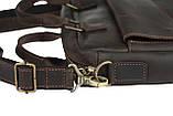 Сумка мужская для документов большая кожаная А4 SULLIVAN smg10(40) коричневая, фото 6