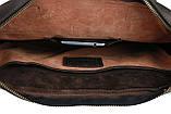 Сумка мужская для документов большая кожаная А4 SULLIVAN smg10(40) коричневая, фото 10