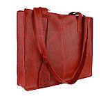 Сумка жіноча шкіряна велика шопер SULLIVAN sg4(40) червона, фото 3