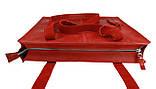 Сумка жіноча шкіряна велика шопер SULLIVAN sg4(40) червона, фото 4