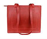 Сумка жіноча шкіряна велика шопер SULLIVAN sg4(40) червона, фото 6