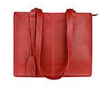 Сумка жіноча шкіряна велика шопер SULLIVAN sg4(40) червона, фото 7