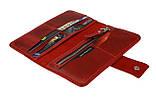 Кошелек женский кожаный большой SULLIVAN  kgb62(10) красный, фото 4