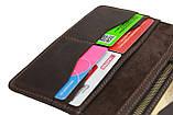 Гаманець чоловічий великий купюрник для грошей портмоне картхолдер SULLIVAN kmk41(10) коричневий, фото 5