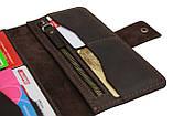 Гаманець чоловічий великий купюрник для грошей портмоне картхолдер SULLIVAN kmk41(10) коричневий, фото 6