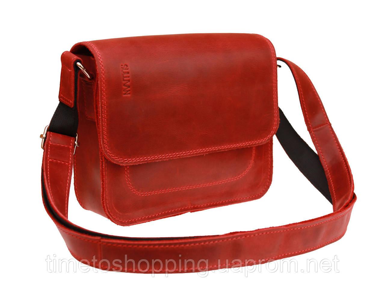 Сумка женская кожаная маленькая клатч  SULLIVAN sg7(25) красная