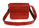 Сумка женская кожаная маленькая клатч  SULLIVAN sg7(25) красная, фото 3