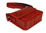 Сумка женская кожаная маленькая клатч  SULLIVAN sg7(25) красная, фото 5