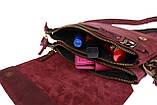 Сумка женская маленькая барсетка клатч SULLIVAN sg9(32) марсала, фото 3