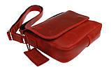 Сумка жіноча шкіряна маленька клатч SULLIVAN sg26(23) червона, фото 5