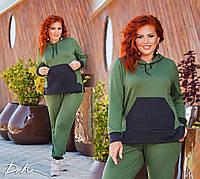 Красивый Спортивный  женский костюм  50-52, 54-56    Цвет - на фото