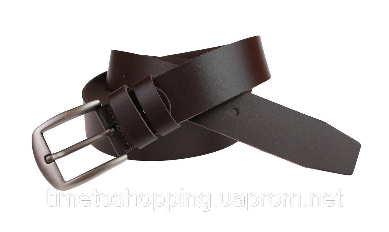 Ремень мужской кожаный джинсовый SULLIVAN  RMK-5(7) 115-150 см коричневый