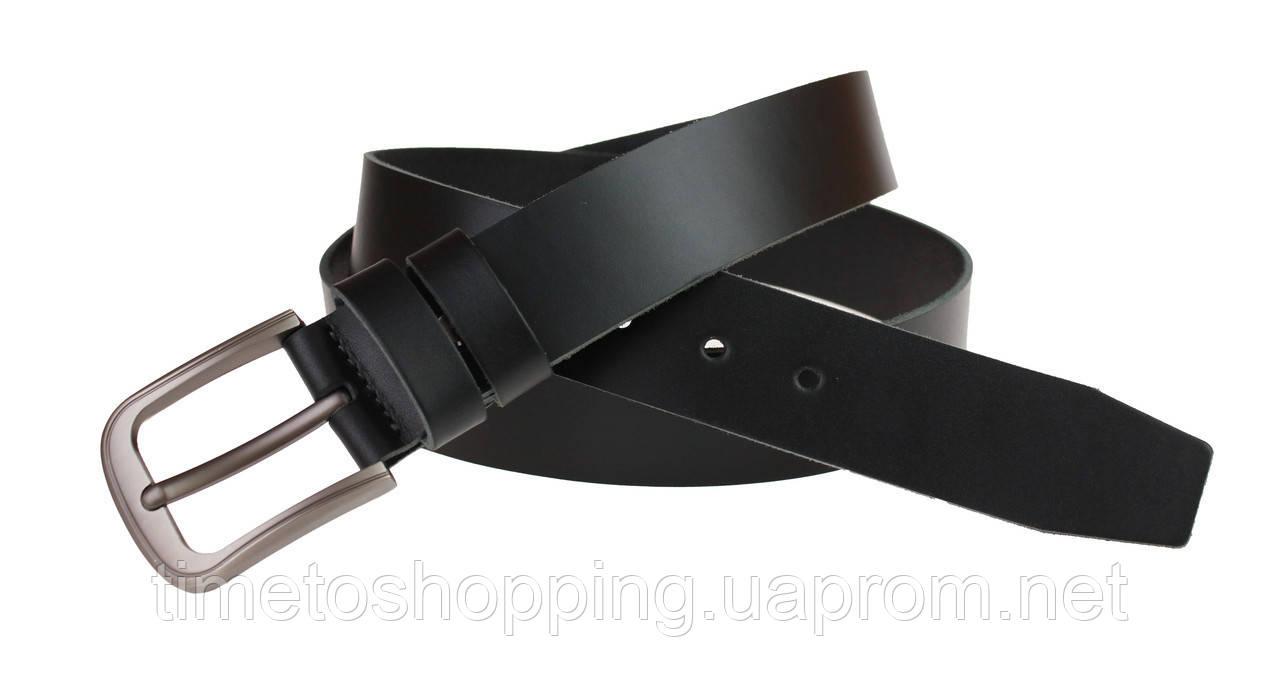 Ремень мужской кожаный джинсовый SULLIVAN  RMK-32(7) 115-150 см черный