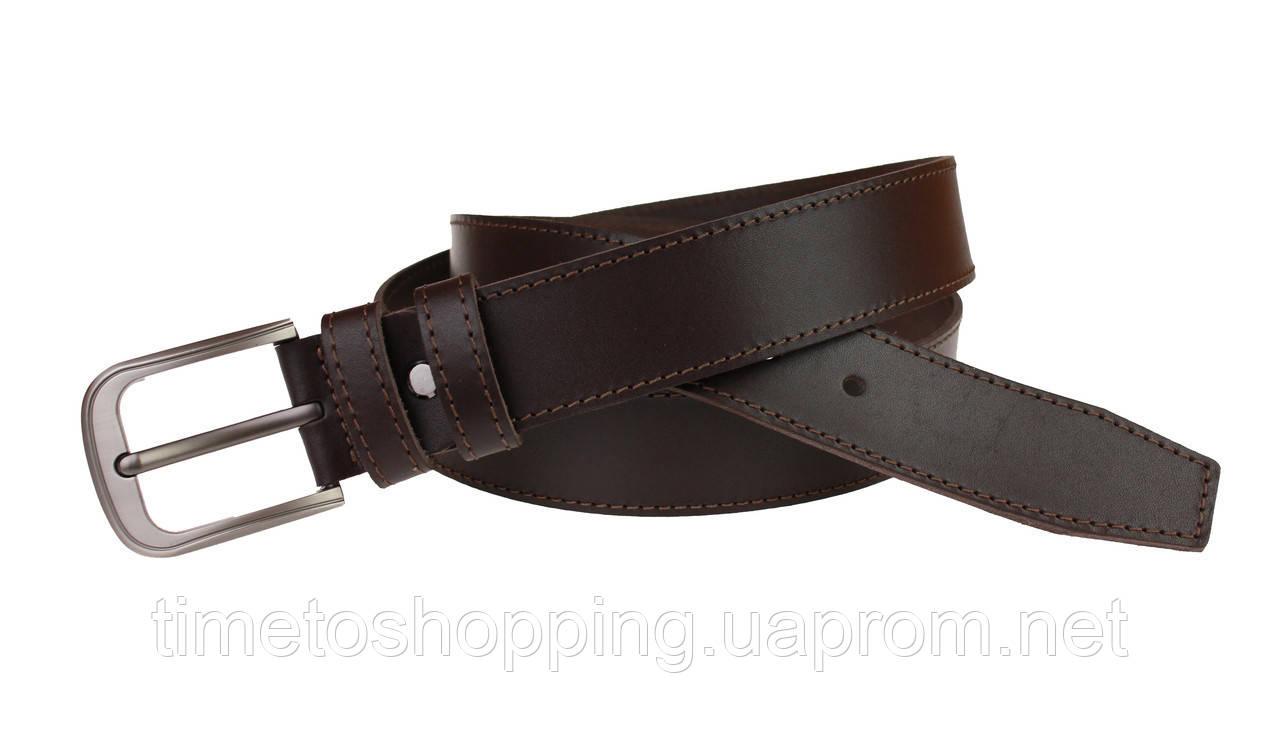 Ремень мужской кожаный джинсовый одна строчка SULLIVAN  RMK-12(7.5) 115-150 см коричневый