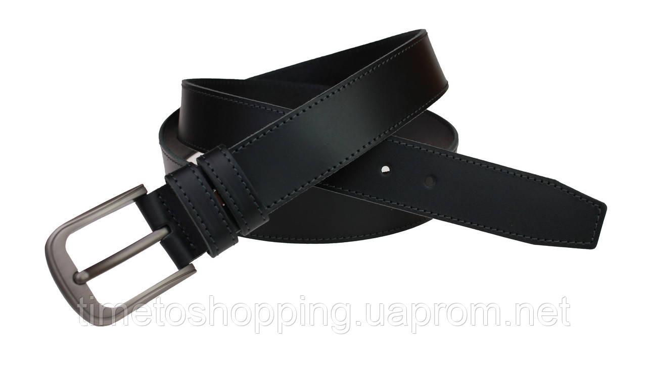Ремень мужской кожаный джинсовый одна строчка SULLIVAN  RMK-42(7.5) 115-150 см черный