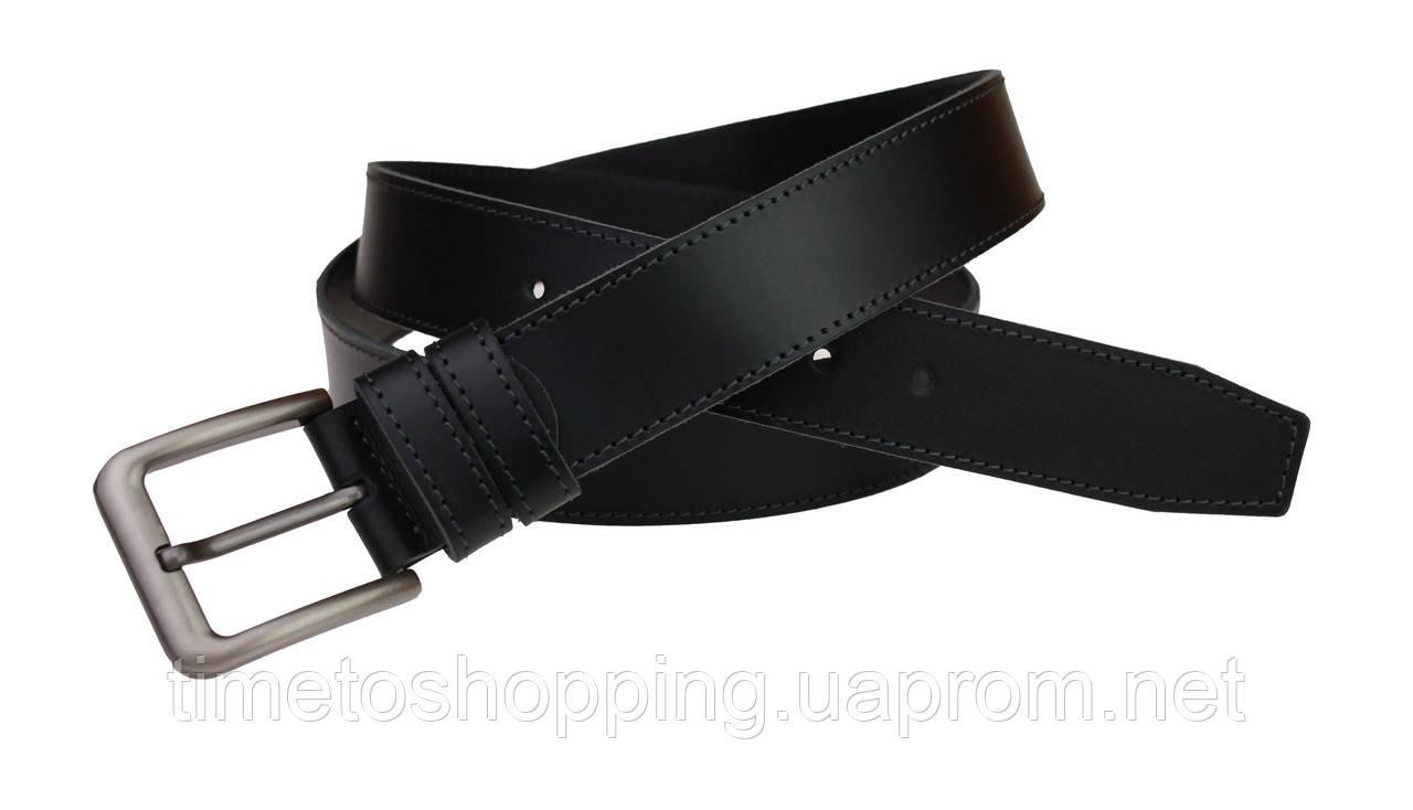 Ремень мужской кожаный джинсовый одна строчка SULLIVAN  RMK-46(7.5) 115-150 см черный