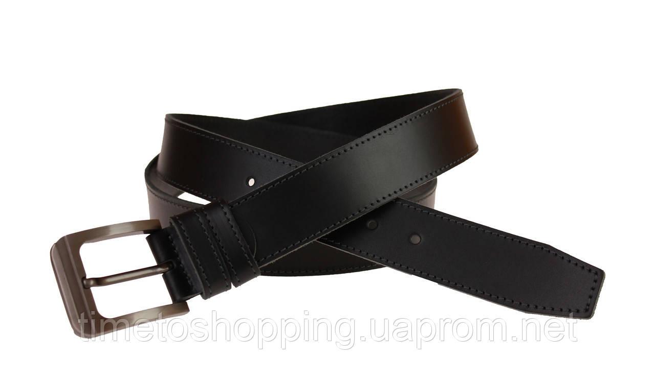 Ремень мужской кожаный джинсовый одна строчка SULLIVAN  RMK-47(7.5) 115-150 см черный