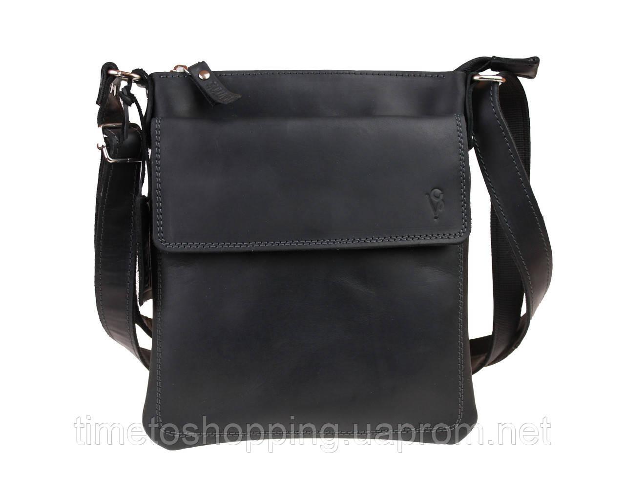 Сумка мужская  кожаная планшет SULLIVAN smvp124(25) черная