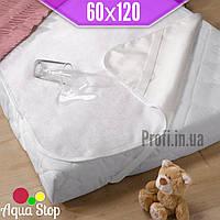 Наматрасник детский непромокаемый 60х120 см., резинками по 4-м углам