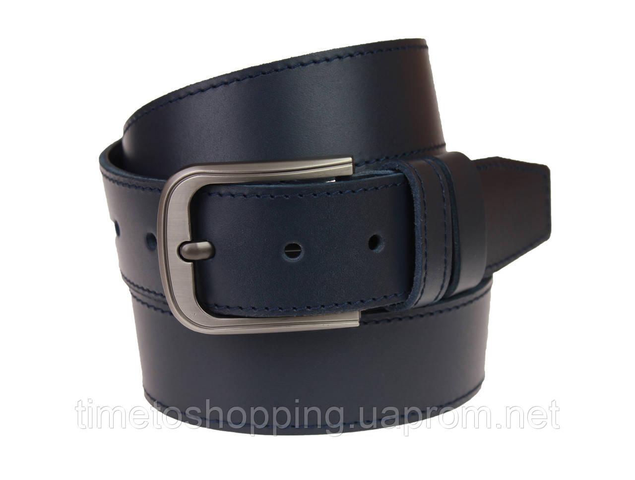 Ремень мужской кожаный джинсовый одна строчка SULLIVAN  RMK-72(7.5) 115-150 см синий