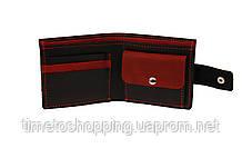 Кошелек мужской кожаный маленький SULLIVAN kmg2(8) черно-красный