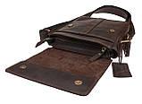 Сумка чоловіча вертикальна шкіряна планшет SULLIVAN smvp126(30) коричнева, фото 4
