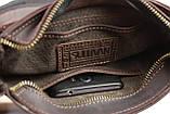 Сумка чоловіча вертикальна шкіряна планшет SULLIVAN smvp126(30) коричнева, фото 7