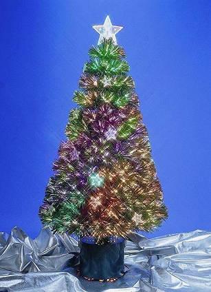 Елка искусственная светодиодная с украшениями-звездами, h90 см (050765)
