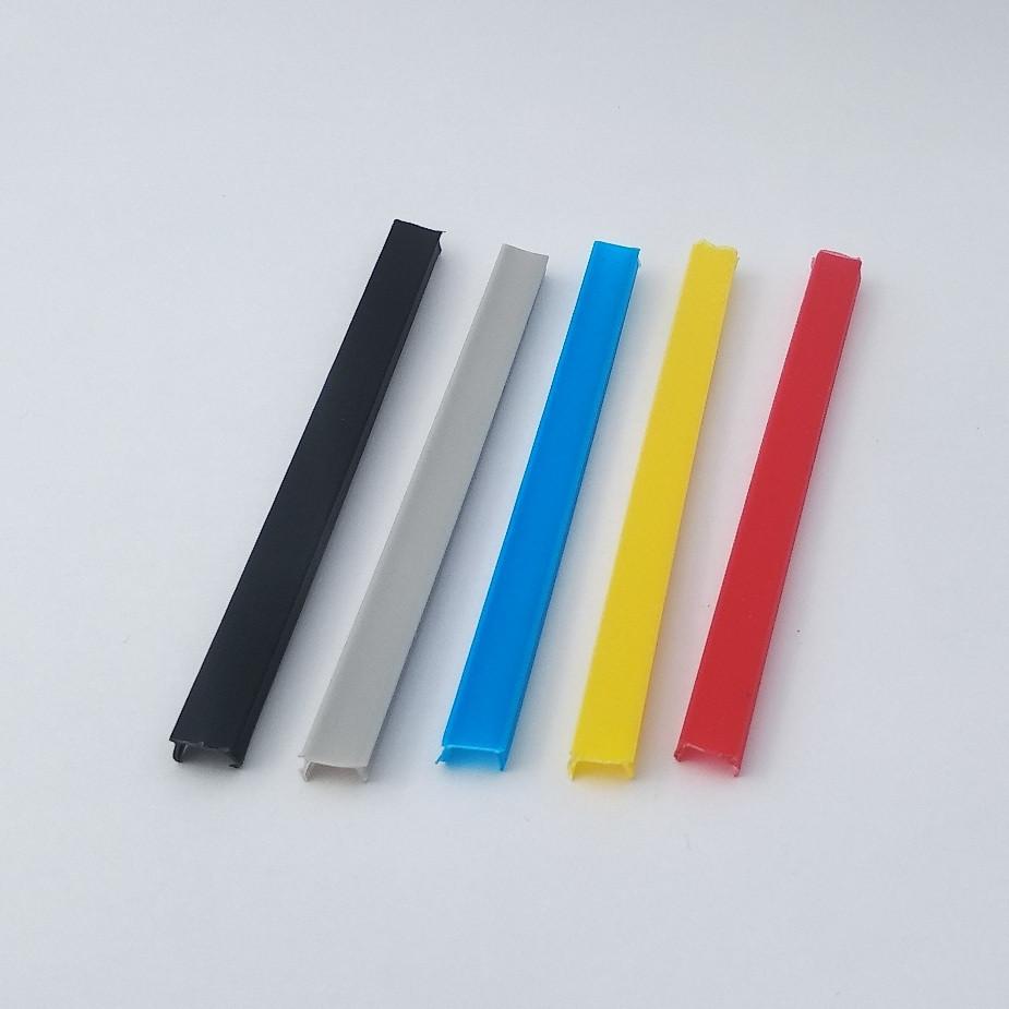 Заглушка лінійна під паз 6мм, сірий пластик (станочный алюминиевый профиль)