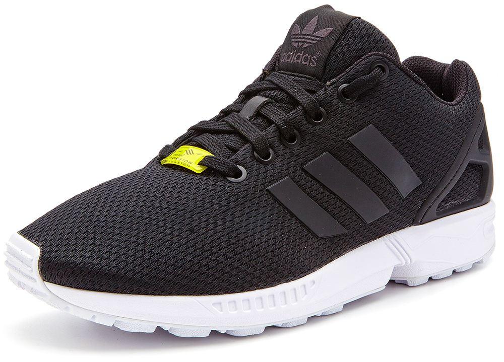 Мужские кроссовки Adidas ZX Flux Torsion черные с белым, ... 0ee4b257bac