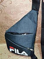 Мужская сумка Fila через плечо слинг мини рюкзак бананка с карманами 21*30*2см Копия 193-22