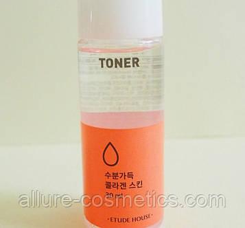ETUDE HOUSE Moistfull Collagen Facial Toner Увлажняющий тонер для лица с гидролизованным коллагеном 30мл