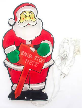 Светодиодная гирлянда-декорация фигура на окно/стену Дед Мороз 20Л (640133)