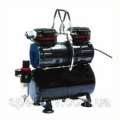 Двухцилиндровый компрессор для аэрографа с ресивером серия IFOO