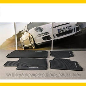Porsche Panamera напольные коврики резиновые передние задние комплект 4 штуки новый оригинал