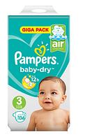 Подгузники Pampers Active Baby Midi 3 (6-10 кг) Mega Pack 136 шт.