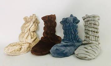 Домашние махровые сапожки тапочки