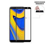 Защитное стекло Full Glue Glass для Samsung Galaxy J6+ Plus 2018 (J610) (клеится вся поверхность)