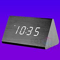 """Настольные электронные часы """"Брус""""  - Деревянные часы с LED подсветкой и будильником (Часы брусок дерева)"""