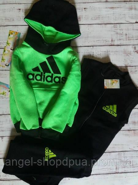 Теплый детский спортивный костюм тройка трехнитка Adidas 80/86 СКИДКА