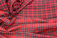 Ткань французский трикотаж , шотландка (широкая),  плотный, стрейч средний № 362, фото 1