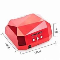 Сушилка для ногтей Beauty nail CCF+ LED, УФ лампадля наращивания ногтей на 36 Вт, Лампа для сушки лака и геля