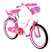 """Велосипед двухколесный   Huda Toys 20"""" (SW-17014-20) розовый с корзинкой"""