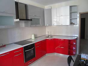 Кухня с фасадами МДФ покраска 1