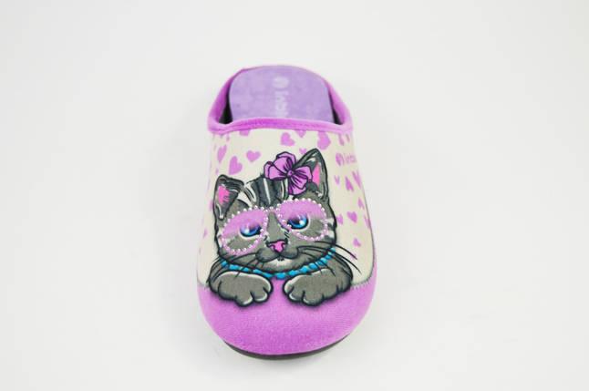 Тапочки розовые коты ткань Inblu VG5X, фото 2