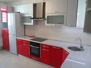 Кухня с фасадами МДФ покраска 11