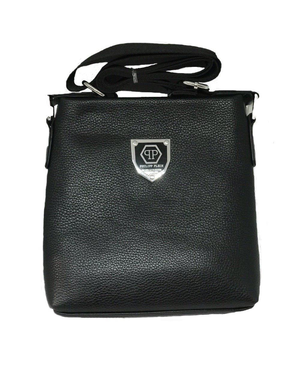 Мужская сумка через плечо Philipp Plein черная