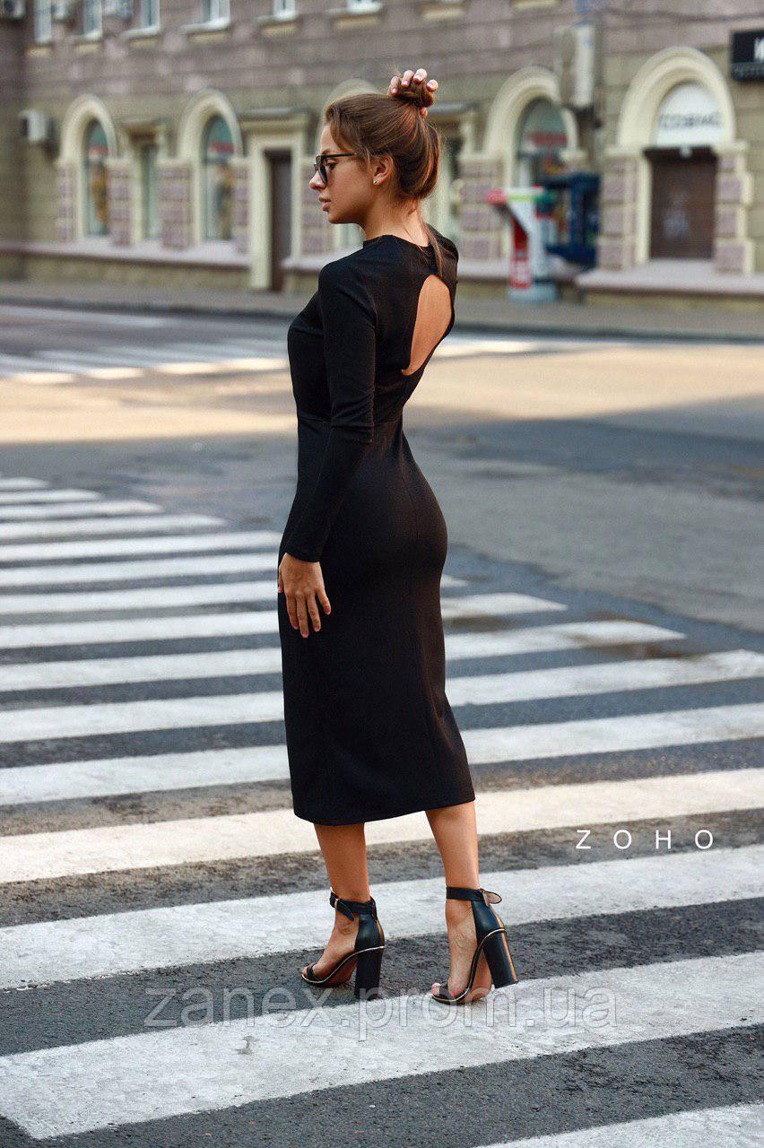 Стильное платье Zanex «Ифа», черное