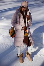 Зимовий жіночий пуховик / пальто Бекки  розмір 44 46 48 50 52 54 56 58 60, фото 3